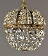 Czech Le Pomme Lantern c1930 Vintage Antique Crystal Chandelier Ceiling Light