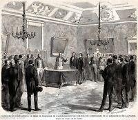 Nizza, Nice: Firma presa di possesso di Nizza della Francia. + Passepartout.1860