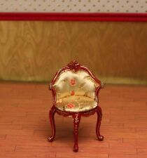 """Red Hepplewhite Desk Chair Painted MUSEUM QUALITY DOLLHOUSE FURNITURE 1/12 1"""""""
