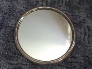 ancien plateau miroir art déco métal argenté