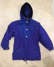 Vintage Obermeyer Ski Coat Winter Women's Size 8 Purple Thermolite Down