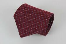 ROBERT TALBOTT Best of Class Silk Tie. Red with White & Blue Geometric.
