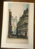 Chester Cathedral - Edward Sharland (1884-1967) - Antique Colour Etching