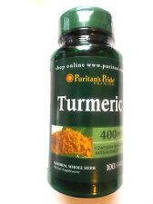 Turmeric Curcuma Longa Natural Whole Herb 400Mg 100 Pills Capsules