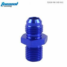 BLUE  6AN 6 An Flare to M14x1.5(mm) Metric straight Flare Male fitting Adapter