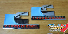 Dodge Ram 2500 3500 Set of Cummins Turbo Diesel Decal Nameplate Emblem Mopar OEM