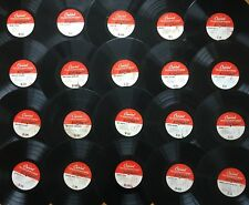 "Lot of 20x CAPITOL 16"" TRANSCRIPTION DISCS~All Pictured~Many Rare & Unknown! #1"