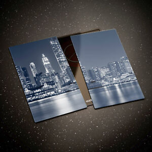 Tempered Glass Chopping Board Cooker Hob Cover Protector New York Bridge 0314