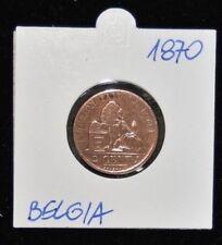 1870 Leopold II 2 Centimes - Copper - Very Fine Condition