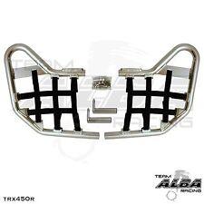 TRX 450R TRX450R Honda   Nerf Bars  Alba Racing  Silver bar Black nets 218 T1 SB