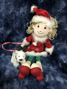 GROOVY GIRLS NOELLA Christmas 2004 Plush with Dog