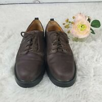 Timberland Mens 10.5 M Waterproof Lace Up Casual Oxford Brown Leather Shoes