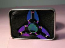 Rainbow Metal Gyro Tri Fidget SPINNER in Case   SIrH70