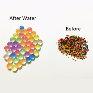 Dropshipping  Pearl Shaped Crystal Soil Water Beads Mud Grow Magic Jelly Balls