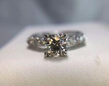 Vintage Art Deco 14k White Gold Old European Diamond Engagement Ring 1/2 ct