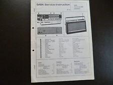 Original Service Manual SABA  Transeuropa  2000  automatic E