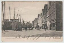 """Bergen Fishmarket, Fiskehandel, """"TYSKEBRYGGEN"""":~Old Collotype PPC, Used 1905."""
