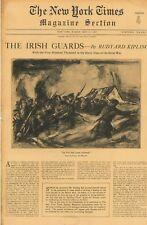 Rudyard Kipling The Irish Guards History WW1 NY Times Magazine  May 27 1923 B10
