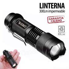 Linterna 300LM con Zoom LED Flashlight Antorcha Luz con Lámpara Militar Táctica