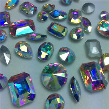 Mixed Shapes Sizes Rhinestones Point back Crystal Glass Stones Chatons 100ps U2