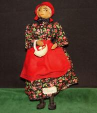 "Vintage Original ""Aunt Boo The Doll Maker"" Handmade Doll with Basket & Doll"