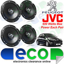Peugeot 207 06-12 JVC 6.5 Inch 1200 Watts 2 Way Front & Rear 5 Door Car Speakers