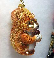 Squirrel w/ Pinecone Christmas Tree Ornament