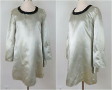 New listing Vintage 60s Pale Green Snakeskin Dress with Angel Sleeves Bust 40