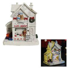Christmas LED Light up Village Scene Battery Operated - 14cm Toy Shop