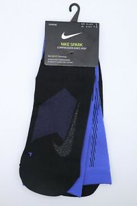 NIKE ELITE COMPRESSION OVER THE CALF RUNNING SOCKS - VIOLET SX6267-554 ALL SIZES