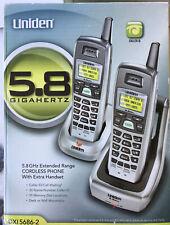 Uniden DXI 5686-2 5.8 GHz Cordless Phone Extra Handset Charging Cradles EUC