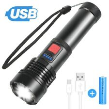 High Power Headlamp 1000000Lumens Zoom Flashlight LED Rechargeable Torch