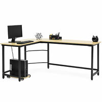BCP Modern L-Shaped Corner Computer Desk Table Workstation w/ CPU Stand