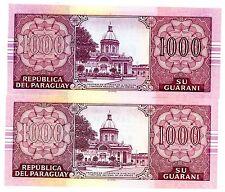 Paraguay ... P-222ab ... 1000 Guaranies ... 2004,2005 ... CH*UNC*  Pair.