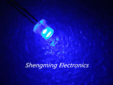 1000PCS 3MM Flat top  Blue wide angle Led Diffused fog Blue light
