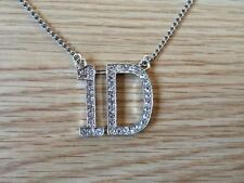 """One Direction 1D Rhinestone Necklace Pendant with 28"""" Chain."""