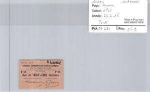 Bon des régions SEDAN - 0,25 francs 26/2/16 - N°01,082 - Pirot 08,281