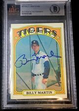 1972 TOPPS #33 BILLY MARTIN RARE BAS BECKETT SIGNED CARD AUTOGRAPHED AUTO !