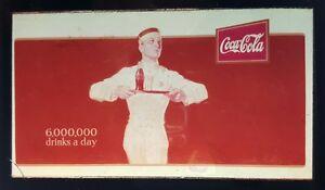 ANTIQUE 1921 6,000,000 DRINKS A DAY SIGN MOVIE COCA COLA MAGIC LANTERN PHOTO IL