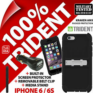 New Trident Kraken AMS Rugged Case Cover for Apple iPhone 6/6S + USB Car Charger