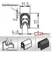 1x m Kantenschutz Kederband Keder Dichtprofil KB 4- 6 mm PVC schwarz 1C10-11