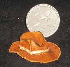 Cowboy/Cowgirl Tan Hat Dollhouse Miniature Prestige Western 1:12 Scale Old