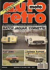 AUTO RETRO 92 FIAT DINO LAGONDA RAPIDE JAGUAR XK120 CORVETTE 1954 MONICA 560