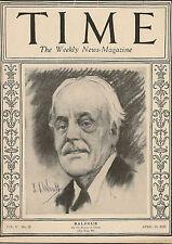Time Magazine April 13,1925 Balfour