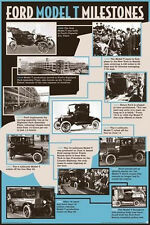 FORD - MODEL T MILESTONES POSTER - 24x36 SHRINK WRAPPED - CLASSIC VINTAGE 241192