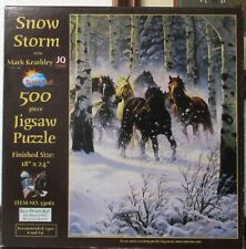 Snow Storm By Mark Keathley - Complete - Sunsout Puzzle
