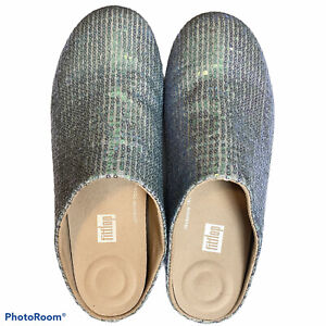 Fitflop Christie Slippers Blue Sequins NWOB Size 8