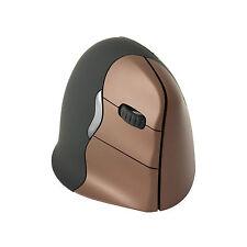 Evoluent VerticalMouse 4 RF Wireless USB Optical Right-hand Black Brown Mi Vm4sw