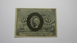 1863 $.10 Second Issue Fractional Currency Obsolete Bank Note Bill! 2nd RARE! VF