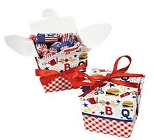 12 Picnic 4th Cook Out Summer BBQ Gift Party Box Take Out Boxes Prizes Leftovers